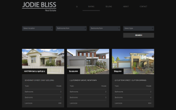 jodiebliss realestate website geelong