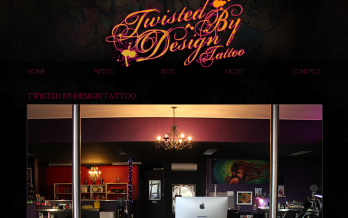 twistedbydesign tattoo website design